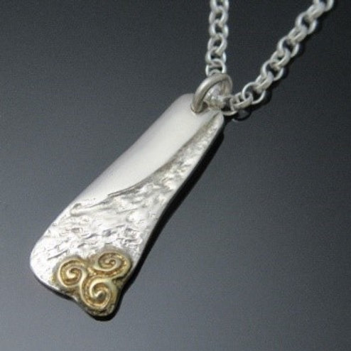 Handmade Newgrange Triskele Pendant