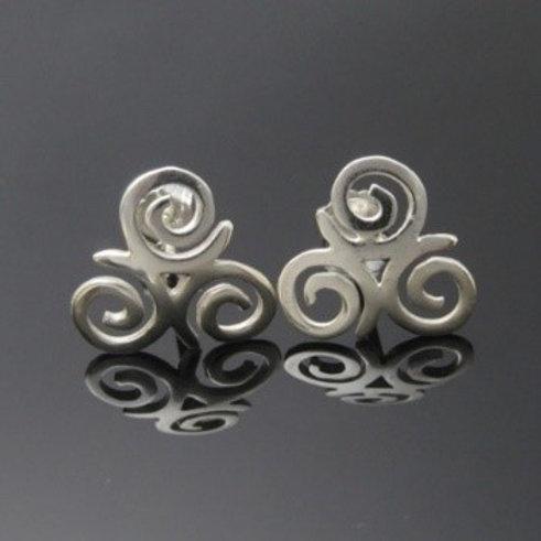 Handmade Triskele Stud Earrings