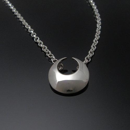 Lunula Pendant - Small Sterling Silver