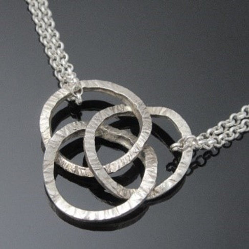 Handcrafted Entwined Trinity Knot Pendant