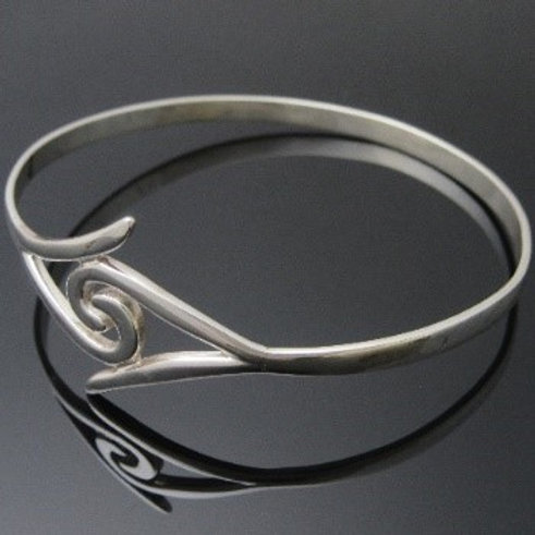Handmade Newgrange Double Spiral Bangle