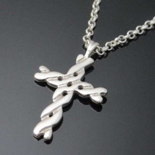 Heavyweight Celtic Twist Cross Pendant