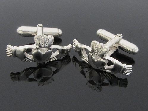 Traditional Claddagh Cufflinks - Sterling Silver