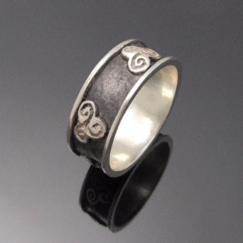 Handmade Triskele Newgrange Ring