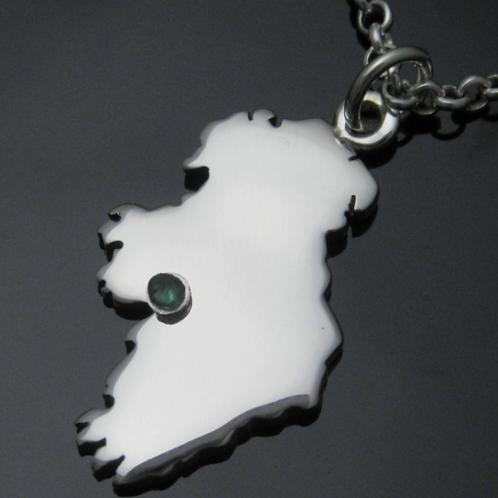 Personalized Handmade Ireland Pendant