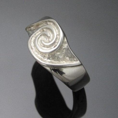 Handmade Double Spiral Newgrange Ring