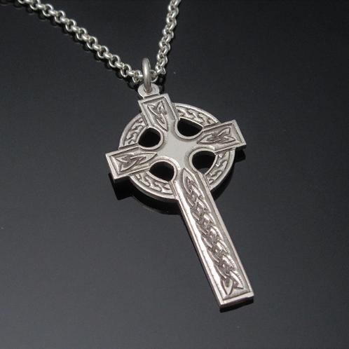 Hand engraved Sterling Silver Celtic Cross