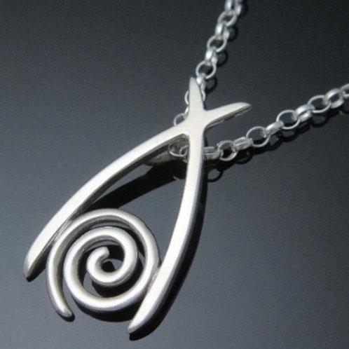 Handmade Newgrange Wishbone Pendant