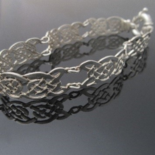 Unique Sterling Silver Celtic Knot Bracelet