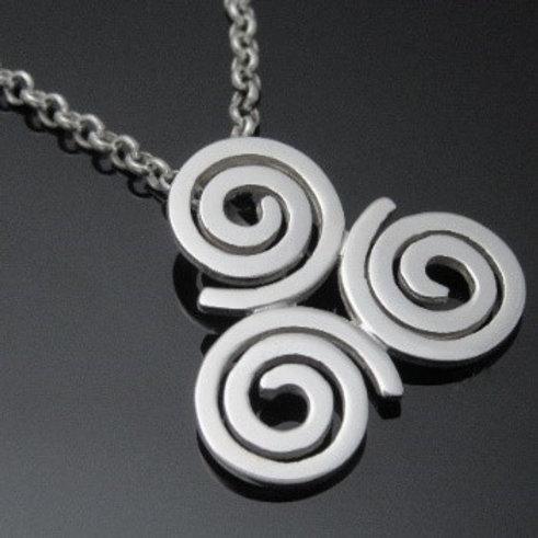 Handmade Newgrange Spiral Pendant