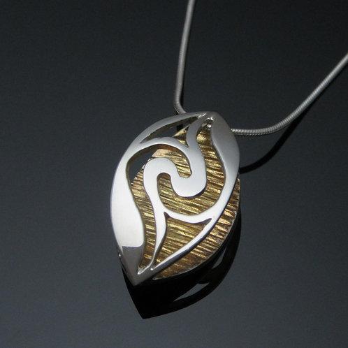 Handmade 18ct Gold Plated Newgrange Pendant