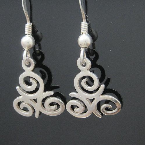 Handmade Triskele Drop Earrings