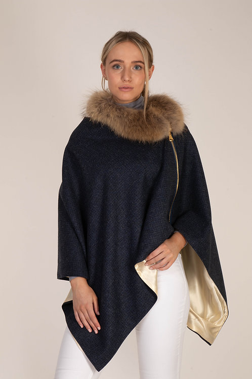 First Lady Navy Cape - Sample