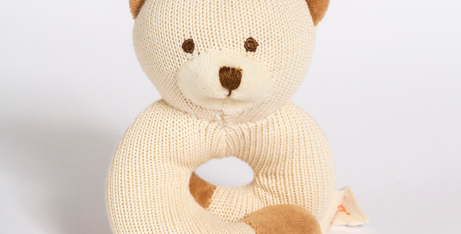 MIYIM Knitted Bear Rattle Teether