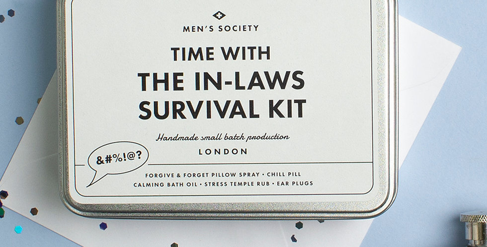 Men's Society - Time With The In-Laws Survival Kit
