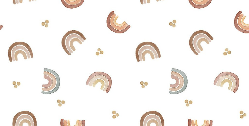 Mabel Bear - Organic Cotton Muslin Swaddle 120x120cm - Rainbows