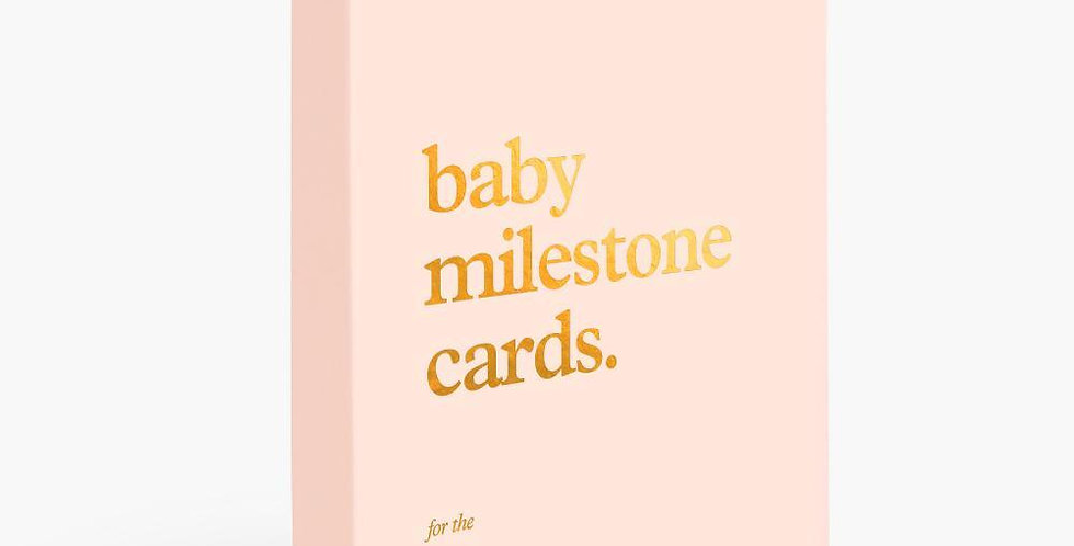 Fox & Fallow Baby Milestone Cards - Cream