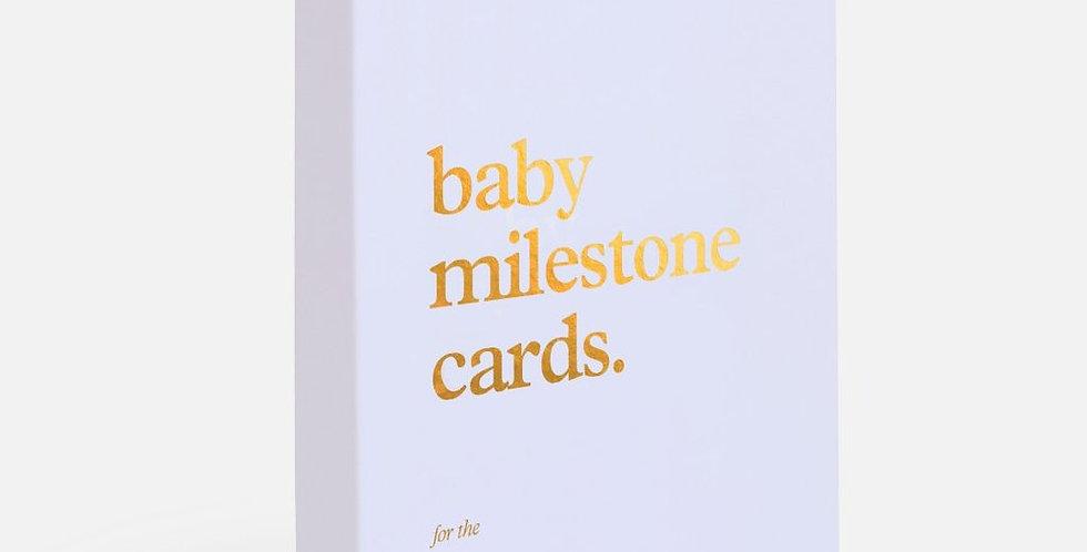 Fox & Fallow Baby Milestone Cards - Powder Blue