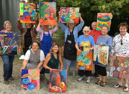 Direct Painting with Acrylics Workshop