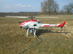 UAV carrying imaging & laser cameras