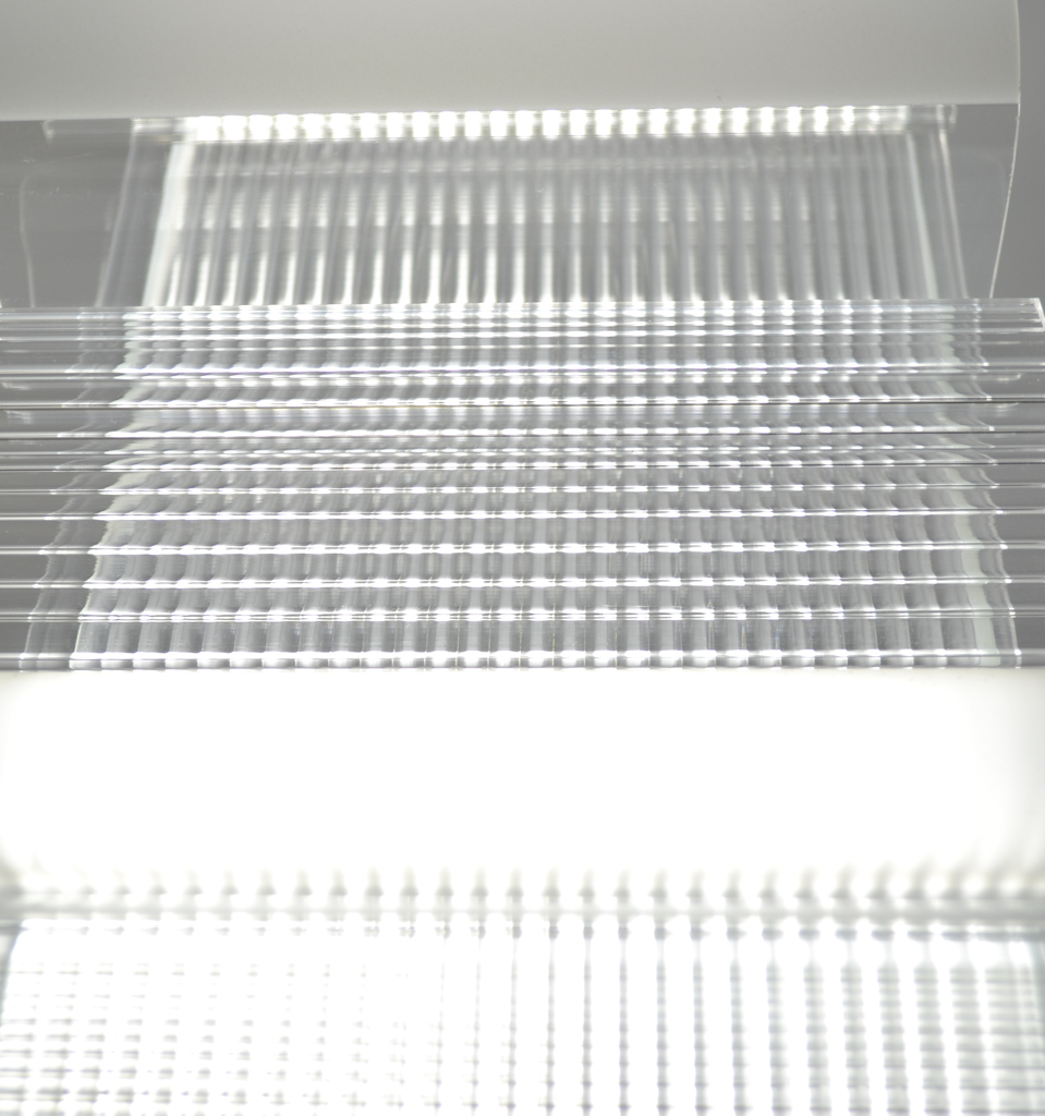 Light Refraction from Ribbed Profile