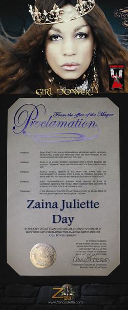 Zaina Juliette Proclamation