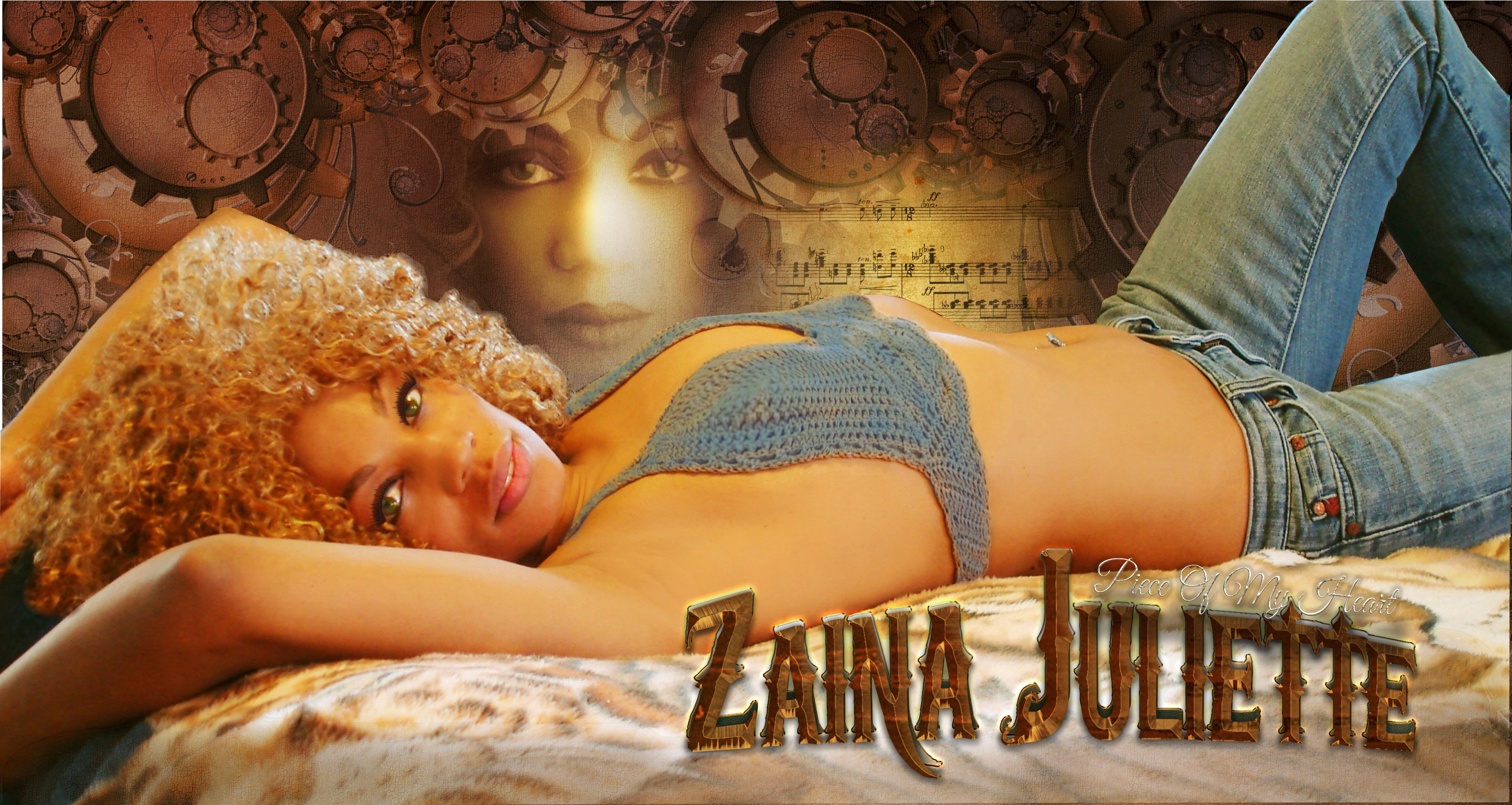 Zaina on the bed 2 POSTER 2