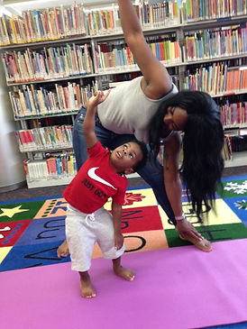 Mommy and Me yoga at the New Rochelle Library