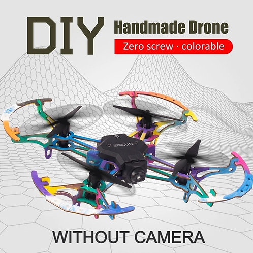 DIY ColorableWooden Drone with mobile Wifi Control but no Camera