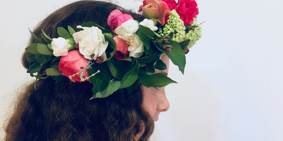 Earth Day Flower Crown Class