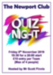 The Newport Club Quiz Night Fri 08-11-20