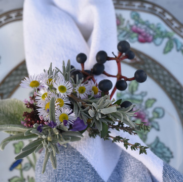 Set the Table With Flower Napkin Rings