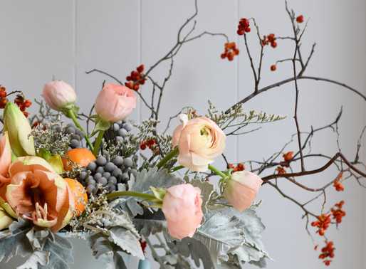 Wild Floral Christmas Centrepiece