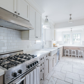 B & A | Reviving A Tired Galley Kitchen