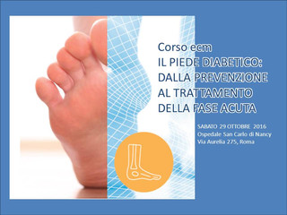 Il piede diabetico: dalla prevenzione al trattamento della fase acuta