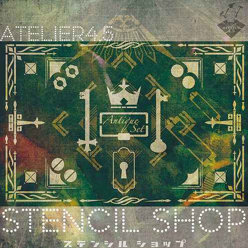"""Antique 01"" - Stencil Set"
