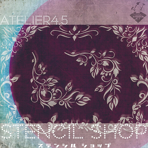 """Corner Floral 01"" - Stencil Set"