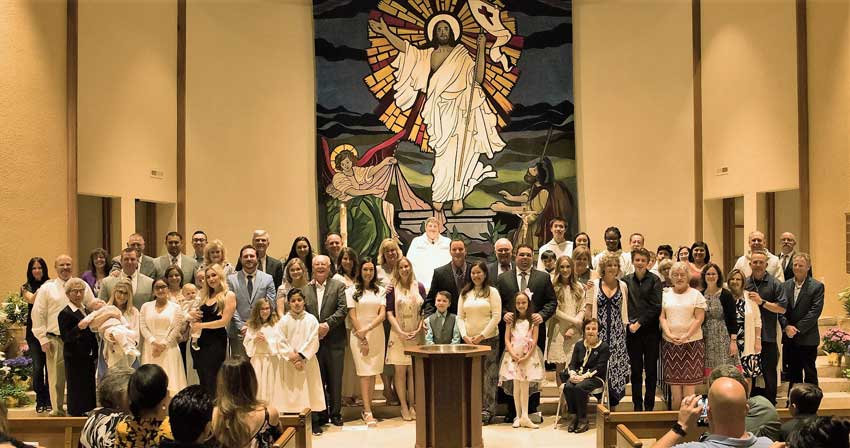 RCIA-Sacraments of Initiation at Easter Vigil Mass