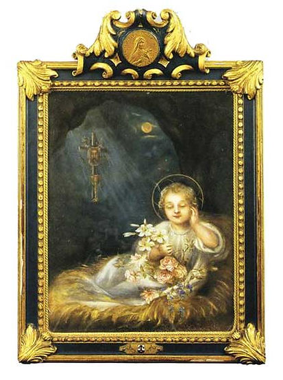 The dream of the Child Jesus. Painting in 1894 by St. Therese