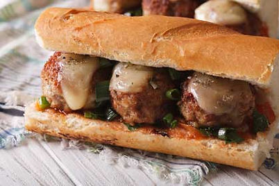 Photo of a meatball sandwich