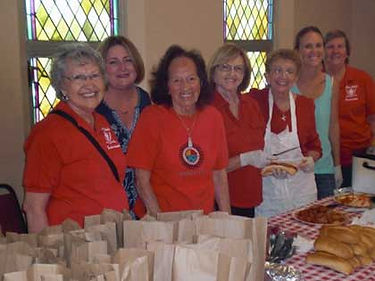 St. Therese Parish Italian Catholic Federation's meatball sandwich making crew.