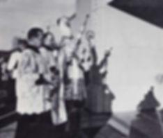 St. Therese in San Diego. Jan 11, 1959 Catholic Bishop Charles Buddy dedicates the church.