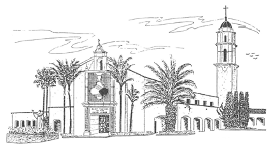 St. Therese church in San Diego -  architectural rendering 1957
