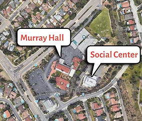 Aerial view of St. Therese Social Center and Murray Hall