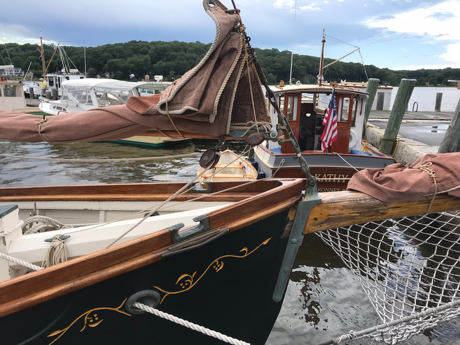 At the Docks of The WoodenBoat Show