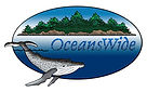 OceansWide logo with island ocean and whale in Maine