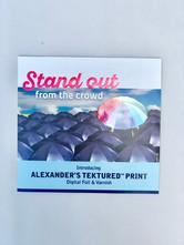 Marketing Booklet Showcasing Print Enhancements (Foil, Texture, etc.) (1)