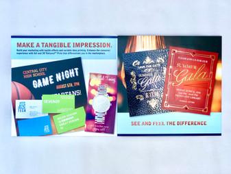 Marketing Booklet Showcasing Print Enhancements (Foil, Texture, etc.) (2)