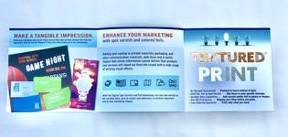 Marketing Booklet Showcasing Print Enhancements (Foil, Texture, etc.) (4)