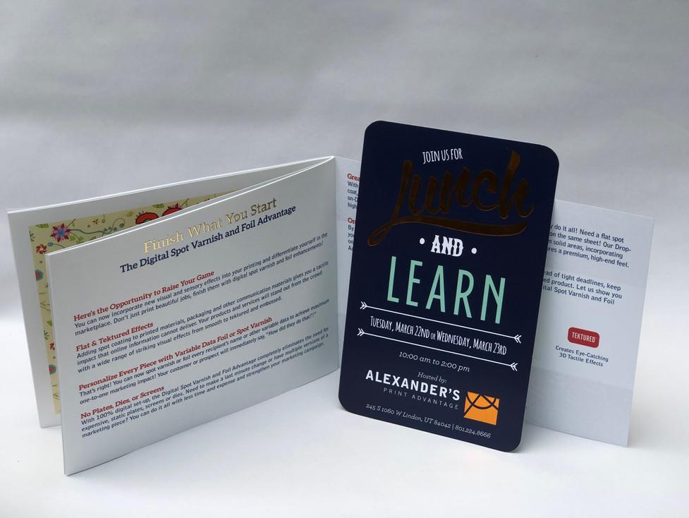 Marketing Booklet Showcasing Print Enhancements (Foil, Texture, etc.) (3)